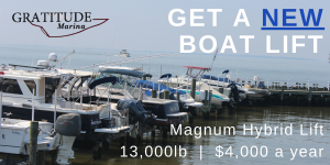 Get a New Boat Lift Installed for you at $4000 for a 12 month season