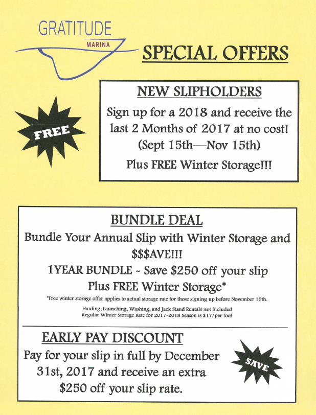 2018 Special Offers